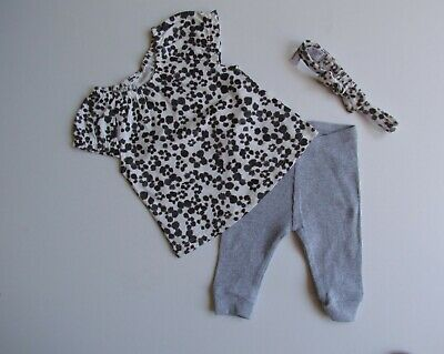 NEXT Baby Girls Black & White Animal  Print Two Piece Outfit  Age 3 Months • 5.74£