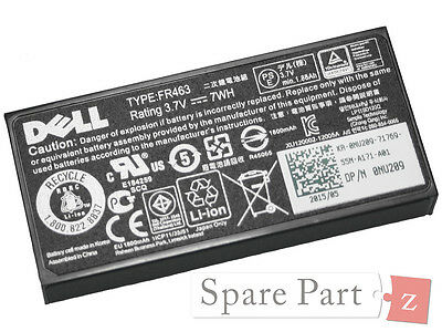 $ CDN205.91 • Buy Original DELL PowerEdge R905 Perc 5i 6i Bbu Battery Battery 0U8735 0NU209