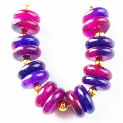 $0.27 • Buy 16Pcs/set 12x4mm Natural Sugilite Rondelle Pendant Bead A53073