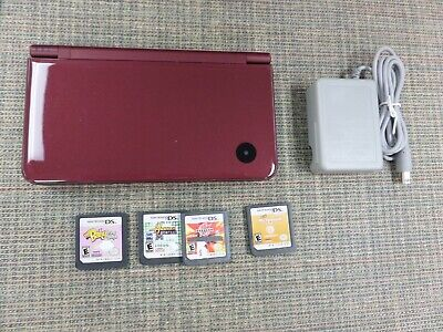 $15.50 • Buy Nintendo DSi XL Wine Red Handheld Video Game UTL-001 Console + BONUS GAMES