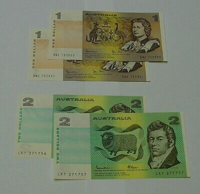 AU22.50 • Buy 1982 $1 And 1985 $2 Consecutive Pairs, Uncirculated.