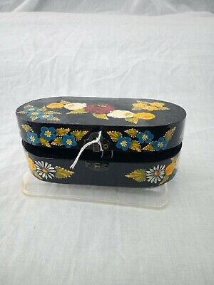£7 • Buy Black Roses And Castles Hand Painted Oval Trinket Box Barge Ware #01