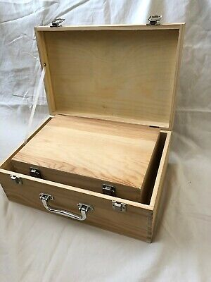 Set Of 2 In 1 Wooden Boxes Suitcase Style Decoupage With Compartments L & M New  • 34.99£
