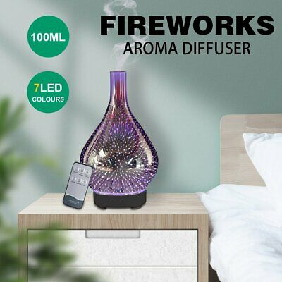 AU50.09 • Buy LED Firework Aromatherapy Diffuser Aroma Essential Oil Ultrasonic Air Humidifier