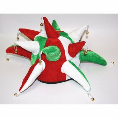 Jester Hat With Bells. Red White & Green - Wales Flag Or Italy  .. • 9.99£