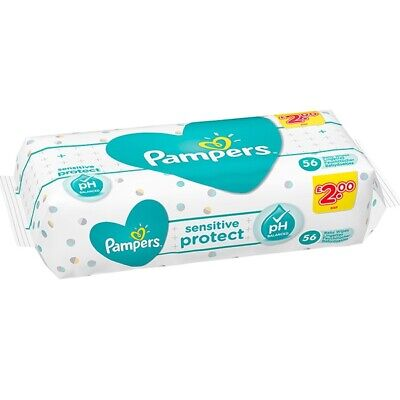 Pampers ✅ Sensitive Baby Wipes Packs Of 1-3-6-12 Gentle Formula (fast Shipping) • 9.99£