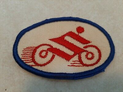 $9.88 • Buy Vintage Suzuki Sew-On Embroidered Motorcycle Cloth Patch 3.25  Long Shelf L4