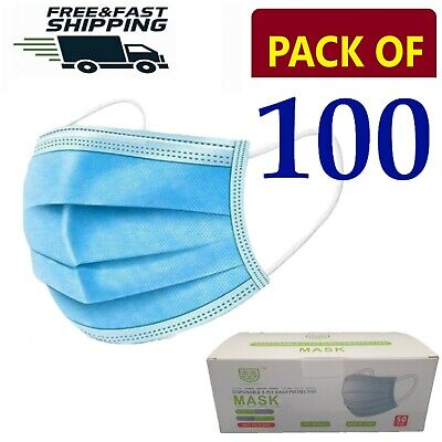 100 X Disposable Face Mask 3 PLY Disposable Face Mask • 4.89£