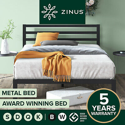 AU159 • Buy Metal Bed Frame Queen Double King Single Size Mattress Base - Zinus Modern Frame