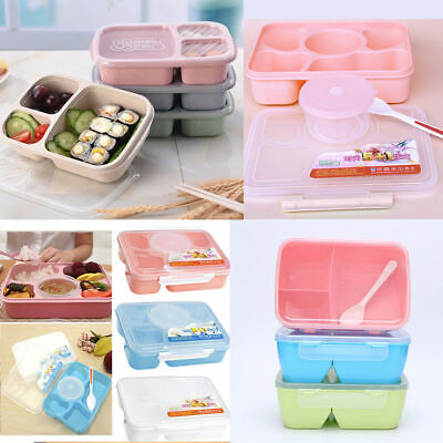 AU12.90 • Buy Microwave Bento Lunch Box Picnic Food Fruit Container Storage Box For Kids Adult