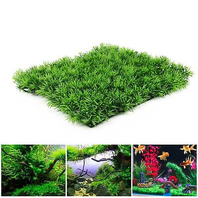 5X Artificial Aquarium Lawn Landscap Fish Tank Decor Fake Grass  Aquatic Plant • 9.59£