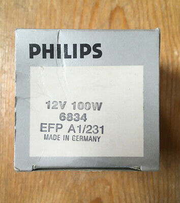 Phillips EFP A1/231 12v 100W 6834 Bulb/Made In Germany/NOS • 12£