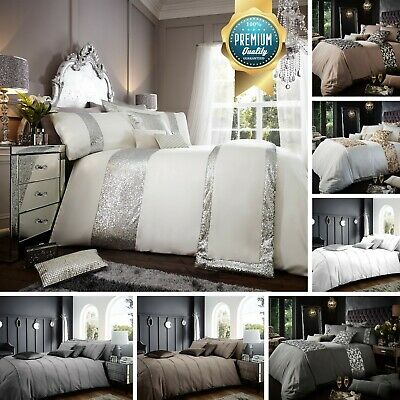 Luxury Duvet Quilt Cover Bedding Set With Pillowcase Single Double King Size • 12.99£