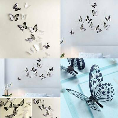 AU1.90 • Buy 18 Pcs 3D Butterfly Wall Stickers Art Decal Home Room Decorations Decor Kids BB