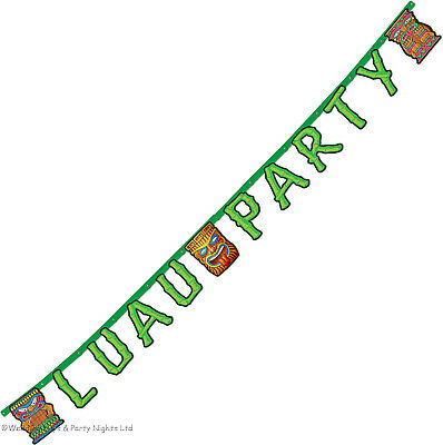 7ft Tiki Luau Party Banner Hawaiian Tropical Beach Birthday Wall Decorations • 3.25£