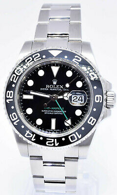 $ CDN15663.01 • Buy Rolex GMT-Master II Steel Ceramic Black/Green 40mm Watch Box/Papers M 116710