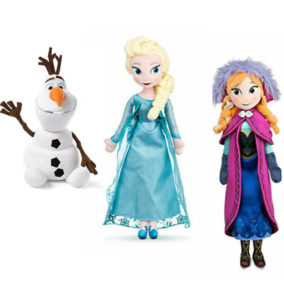 3pcs Disney Snow Princess Elsa Olaf Toys Soft Stuffed Plush Doll Kids Gift Toys • 9.99£