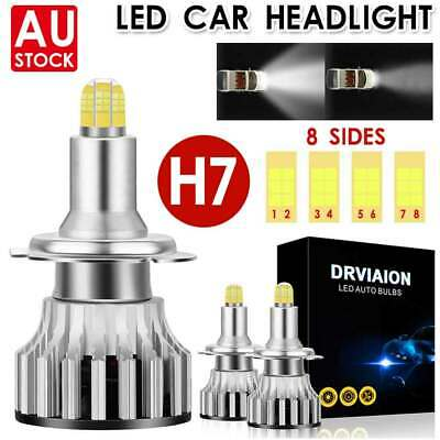 AU31.99 • Buy 2Pcs H7 8 Side LED Headlight Replace HID Halogen 120W 18000LM 6000K White Globes