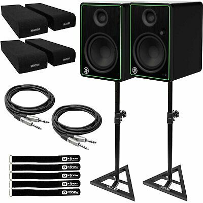 $384.99 • Buy Mackie CR8-XBT 8  Active Powered Studio Monitor Speakers W Bluetooth & Stands