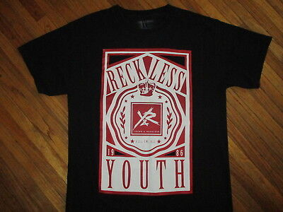 Reckless YOUTH KILL EM ALL T SHIRT Young & Reckless Brand Street Wear Skater LG • 15£