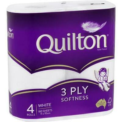 AU4.55 • Buy Brand New Quilton Classic White 3ply Toilet Paper Tissue Rolls 4pk