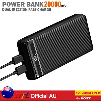 AU34.90 • Buy 200000mAh Power Bank PD&QC 3.0 2USB Type C Lightning Fast Charge Battery Charger