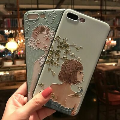 AU16.23 • Buy 3D Embossed Woman Phone Case Cactus Girl Cover For IPhone 13 12 11 X XR XS 7 8