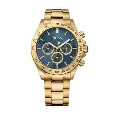 Hugo Boss Men's Gold Ikon Chronograph Watch HB1513340 • 105£