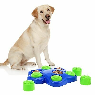Dog Treats Game Toy Paw Puzzle Puppy Hide Interactive Food Healthy Feeding Bowl • 7.95£