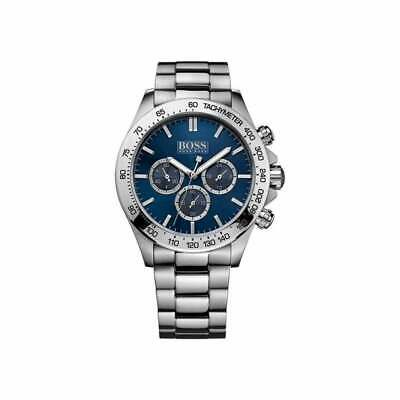 Hugo Boss Mens Ikon Chronograph Stainless Steel Silver Watch HB1512963 • 100£