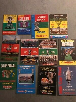12 LEAGUE CUP  FINAL Programmes, From 1968-1983 • 19.99£