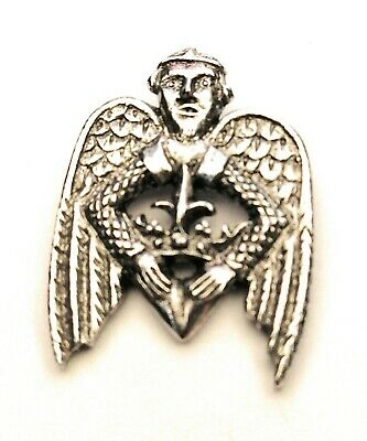 £4.99 • Buy Winged Heart Pilgrim Pewter Pin Badge In Gift Pouch FREE UK Delivery!