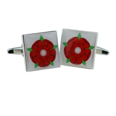 Lancashire Red Rose Cufflinks In Gift Pouch 20mm FREE UK Delivery! • 9.99£