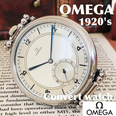 VINTAGE GENUINE OMEG AManual Winding Men's Watch 1920's 48mm Converted Ivory • 629.90£