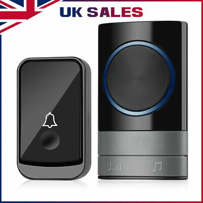 Wireless Doorbell Wall Plug-in Cordless Door 45 Chime 300m Range IP44 UK Stock  • 9.99£