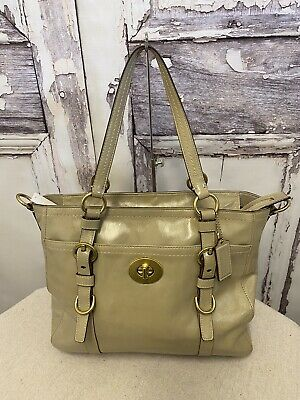 £47.28 • Buy Coach Chelsea Taupe Patent Leather Shoulder Bag F14022
