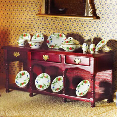 1/12 Scale Dolls House Emporium Mahogany Victorian Sideboard With Pot Shelf 2017 • 19.95£