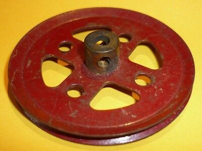 Meccano 2 Inch Red Pulley, Part 20a • 1.25£