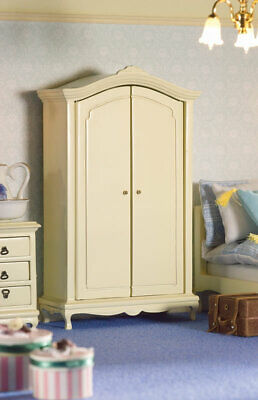 1/12 Scale Dolls House Emporium French Style Cream Double Wardrobe 5672 • 23.95£