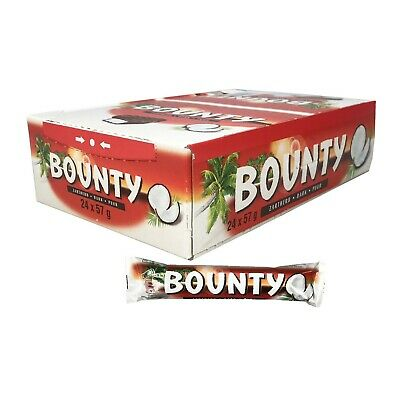 24 X Dark Chocolate Bounty Twin Bar 57g FREE TRACKED DELIVERY • 27.99£