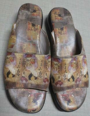 ICON Low Wedge Leather Sandals Shoes Wearable Art Asian Geisha Size 9M • 28.18£