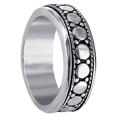Men's 925 Sterling Silver 7mm Spinning Band Size 7 - 12 • 18.54£