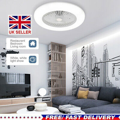 £69.60 • Buy Modern Ceiling Fan With Lighting LED Light Adjustable Wind Speed Remote Control