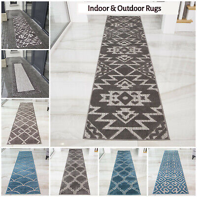 Modern Indoor & Outdoor Hall Runners Long Hallway Runners Washable Flatweave Rug • 24.95£