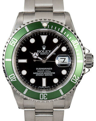 $ CDN24386.86 • Buy Rolex Submariner 16610 Steel Green  Kermit  Watch Box/Papers V 16610LV