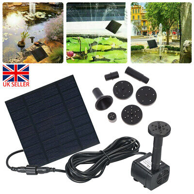 160L/H Solar Garden Pond Pool Submersible Floating Fountain Water Pump Battery • 10.99£