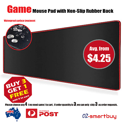 AU15.95 • Buy Extra Large Mouse Pad Gaming Waterproof Mousepad Desk Mat Anti-slip Rubber