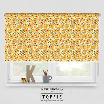 199- Spring Meadow 70's Roller Blind - Various Sizes, Blackout FREE UK Delivery • 35£