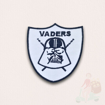 STAR WARS Movies Iron Or Sew On Embroidered Patches - Vaders White • 1.98£