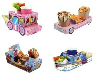 AU3.67 • Buy Food Tray Holder Boxes - Cars/Boat/Carriage/Jungle/Camper Van (Kids/Party)